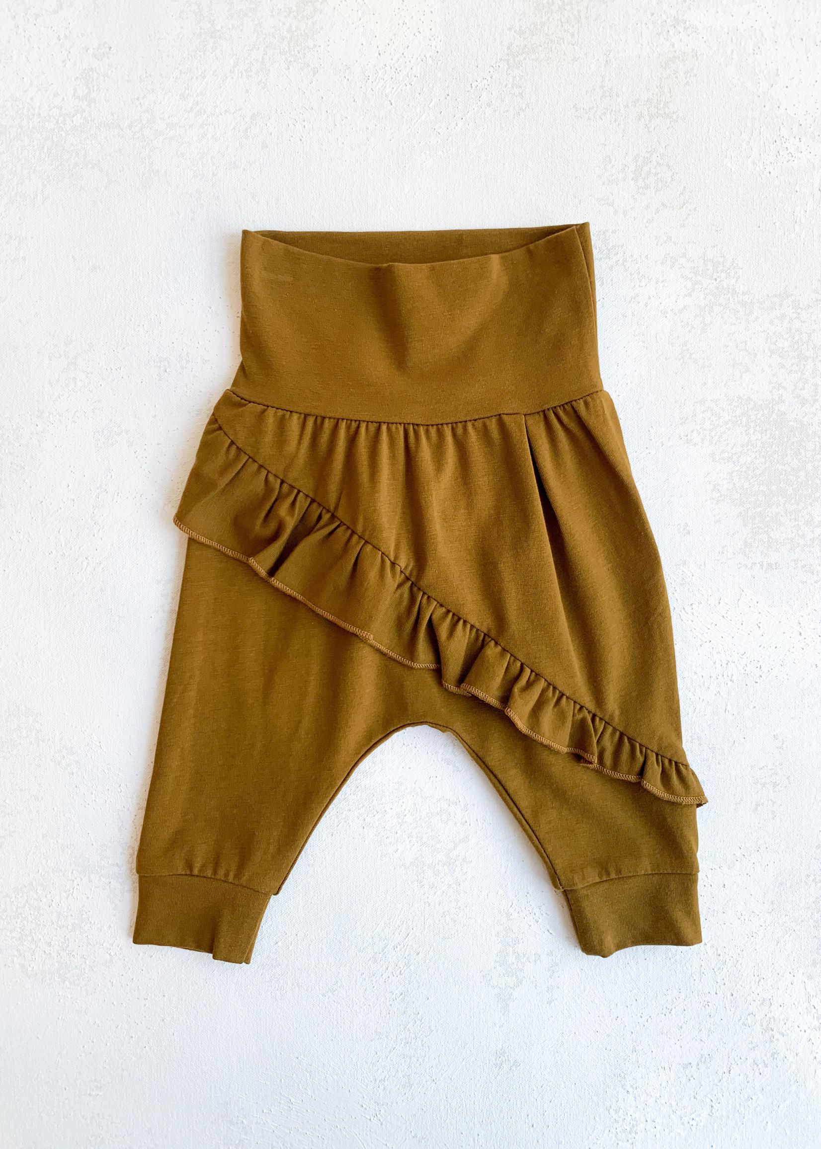 Elitaire Petite Frill Pants in Antique Gold