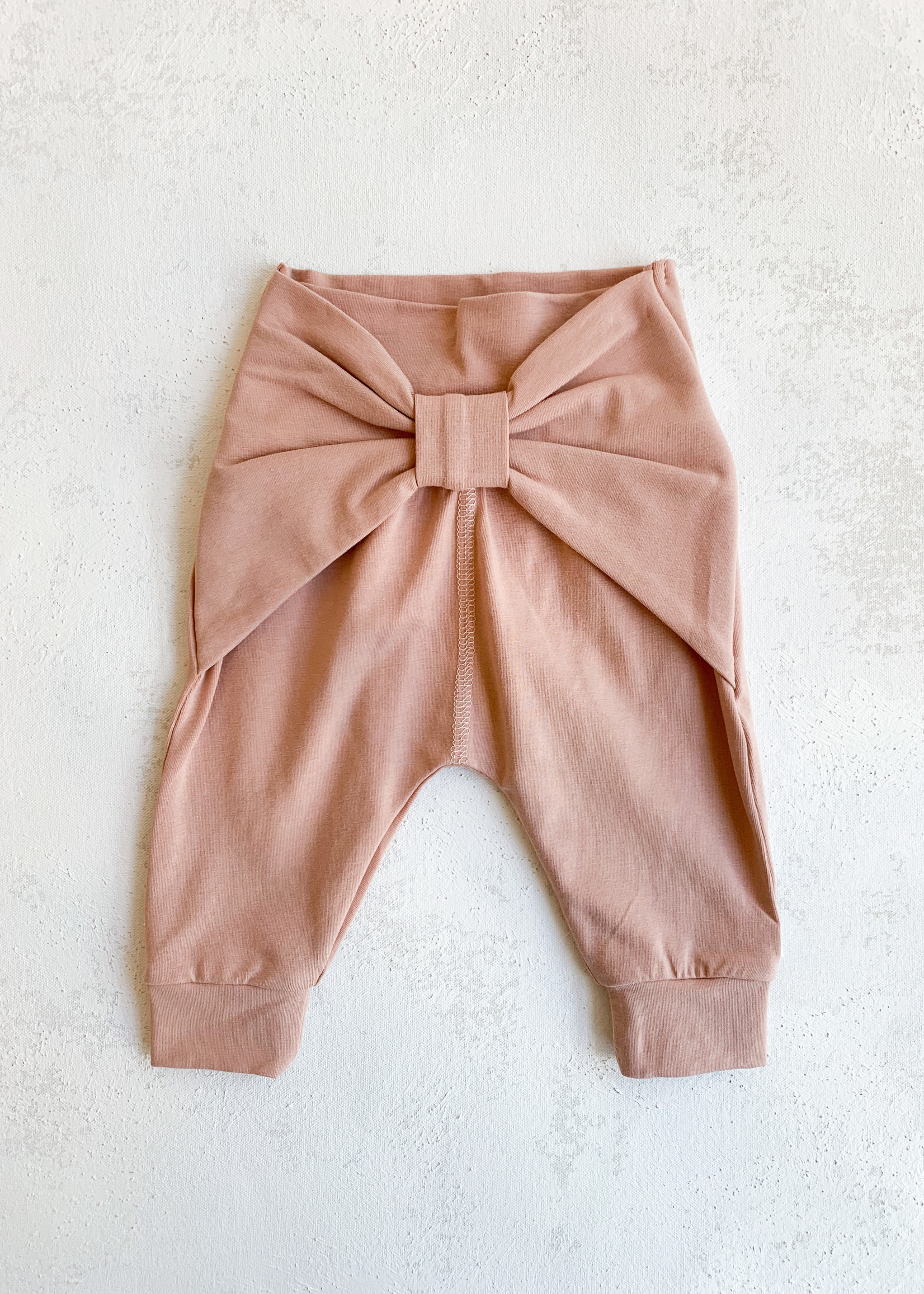 Elitaire Petite Knot Pant in Dusty Blush