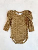 Elitaire Petite Petit Fleur Puff Sleeve Bodysuit