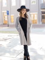 Elitaire Boutique The Gianna Coatigan in Grey