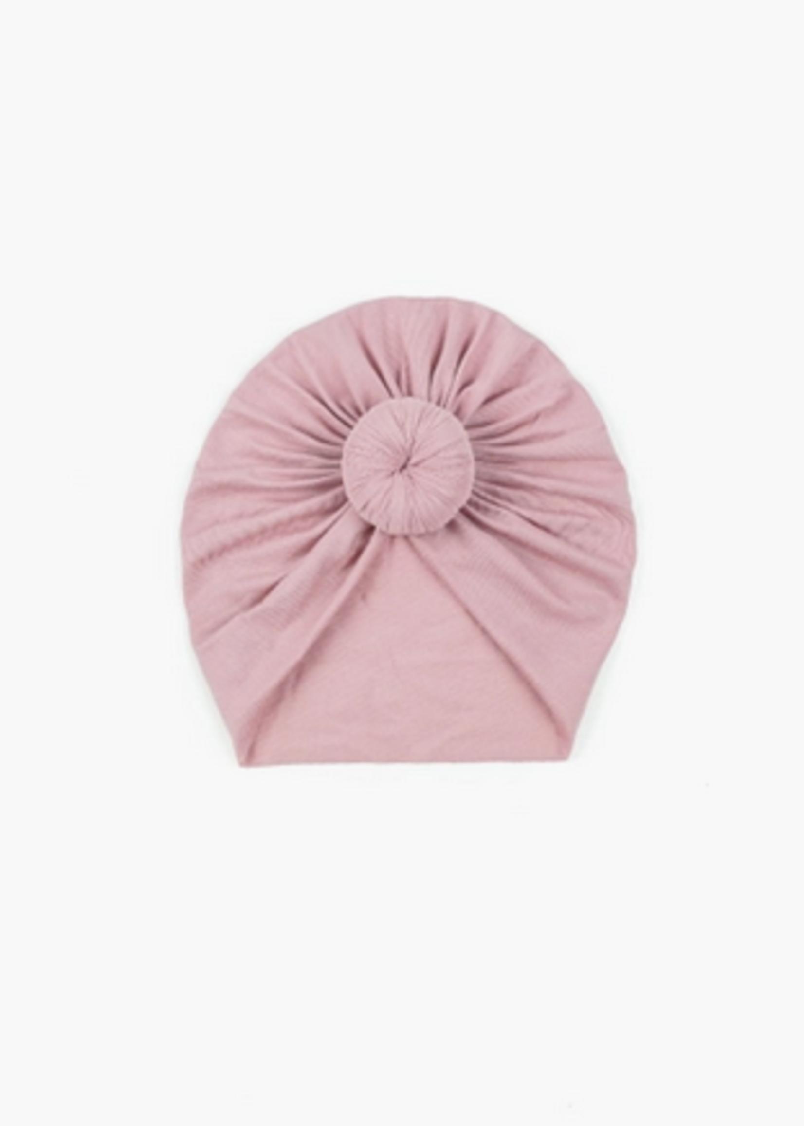 Elitaire Petite Dusty Pink Knot Head Wrap