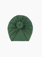 Elitaire Petite Olive Green Knot Head Wrap