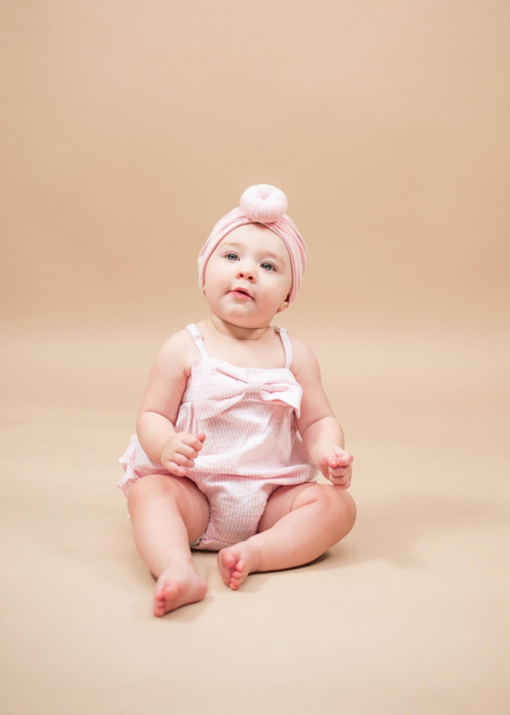 Elitaire Petite Soft Pink Knot Head Wrap