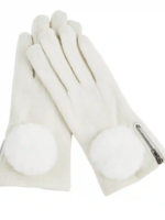 Elitaire Boutique Zippered Poof Glove in Cream