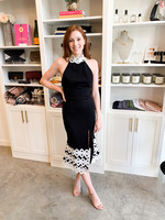 Elitaire Boutique Charismatic Dress in Black + White