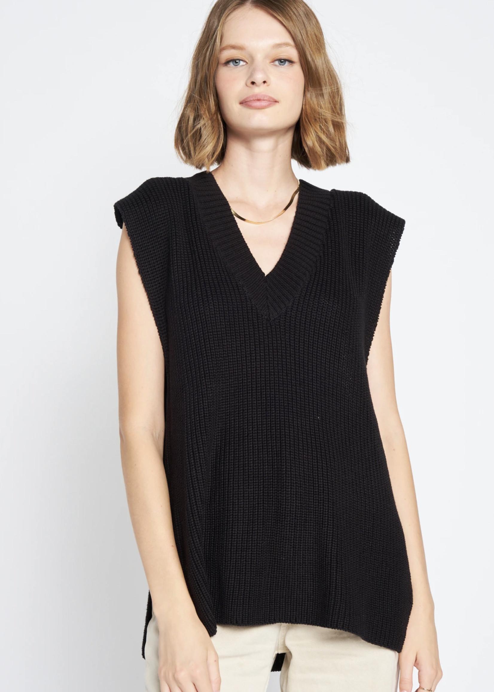 Elitaire Boutique Black V Neck Pullover