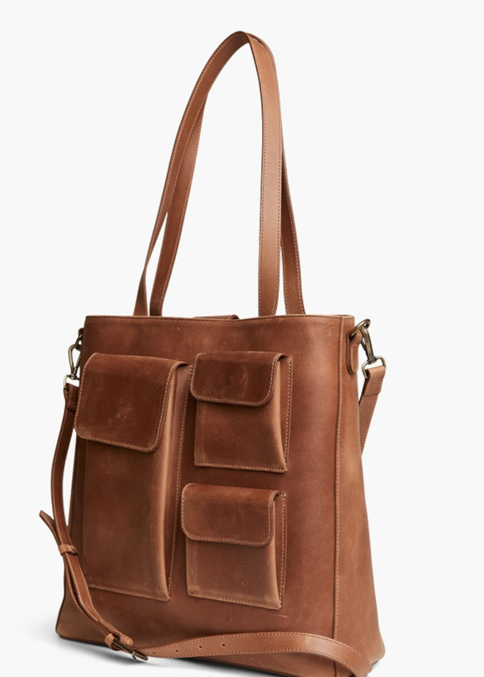 Elitaire Boutique The Olivia Tote in Whiskey