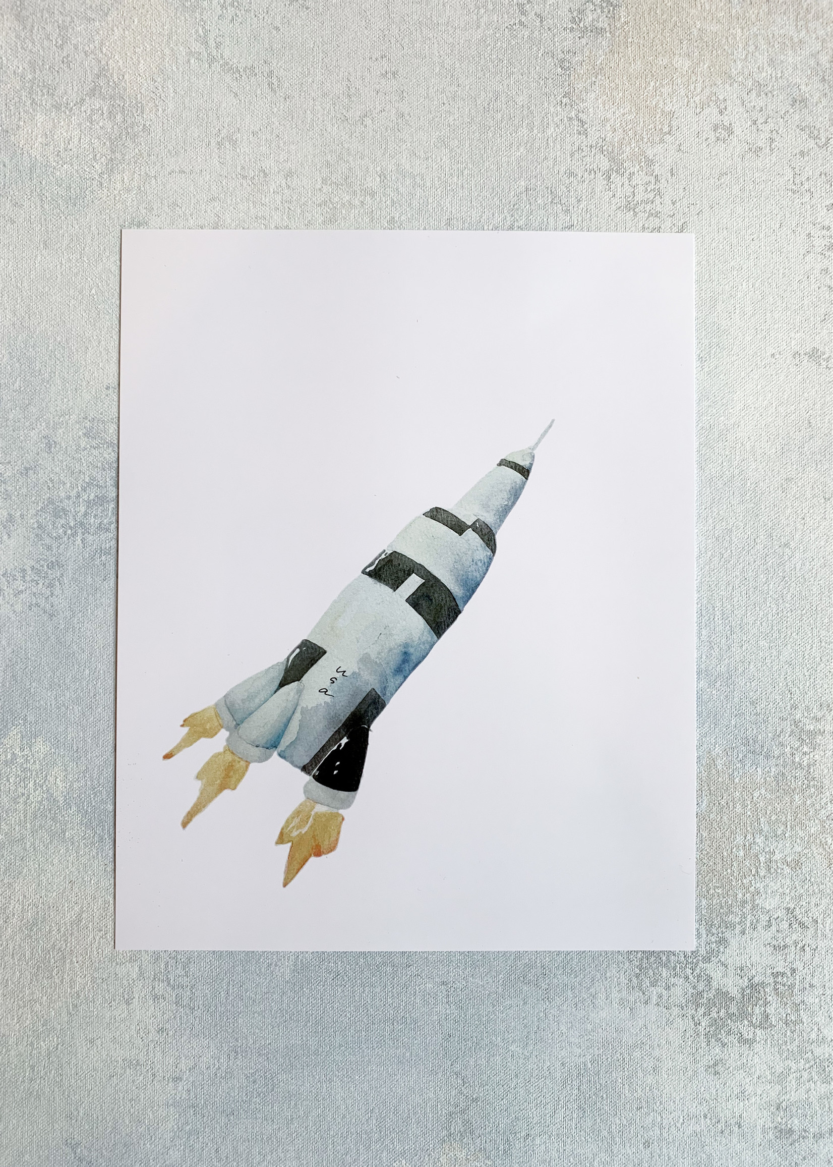 Elitaire Petite Saturn V Watercolor