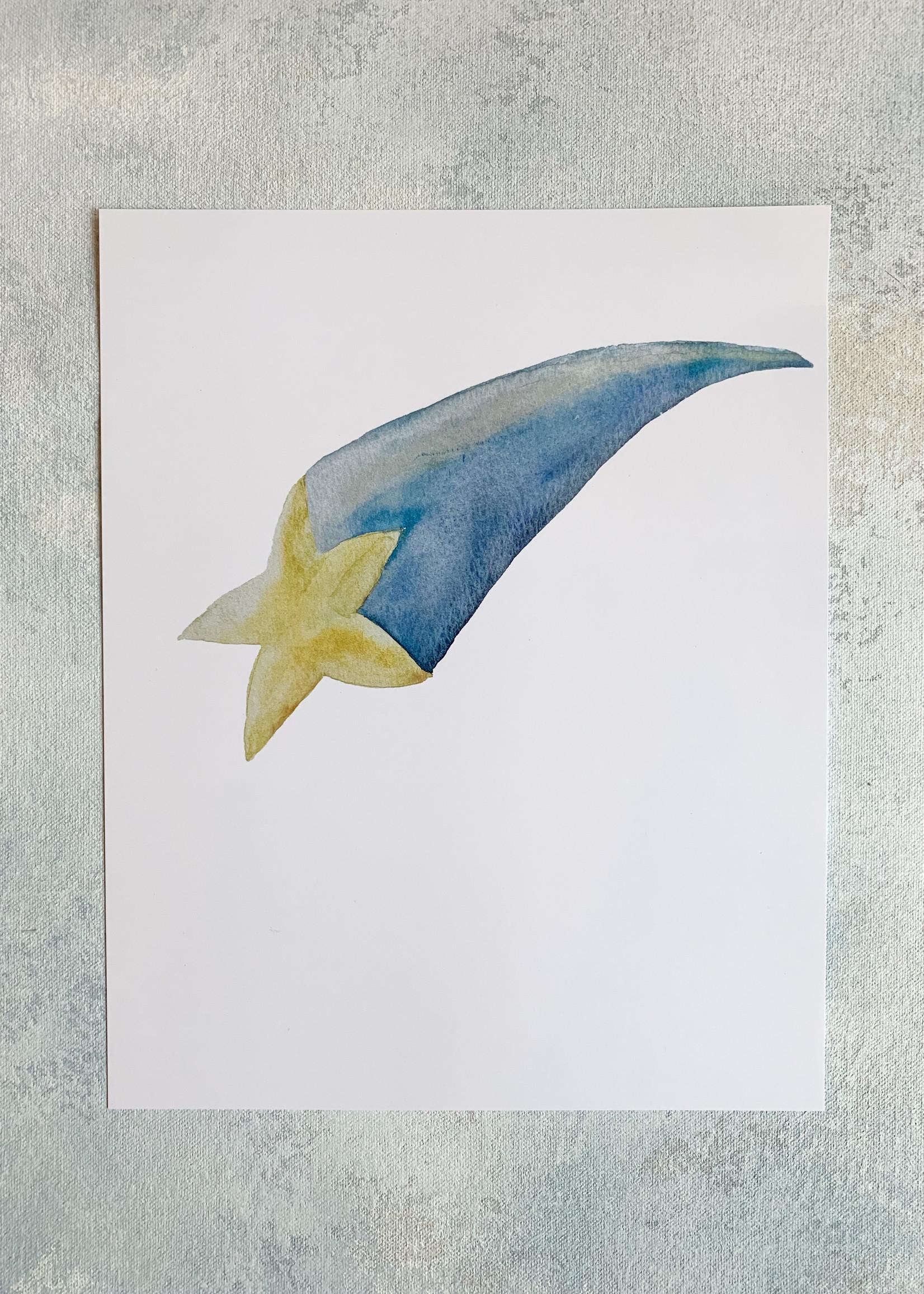 Elitaire Petite Shooting Star Watercolor