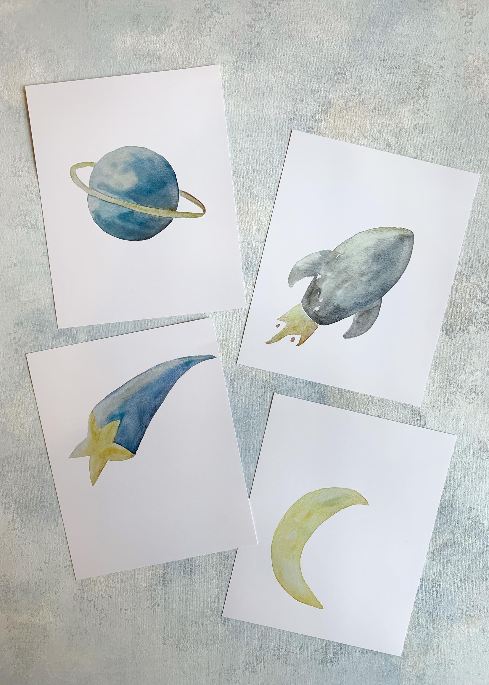 Elitaire Petite Moon Watercolor