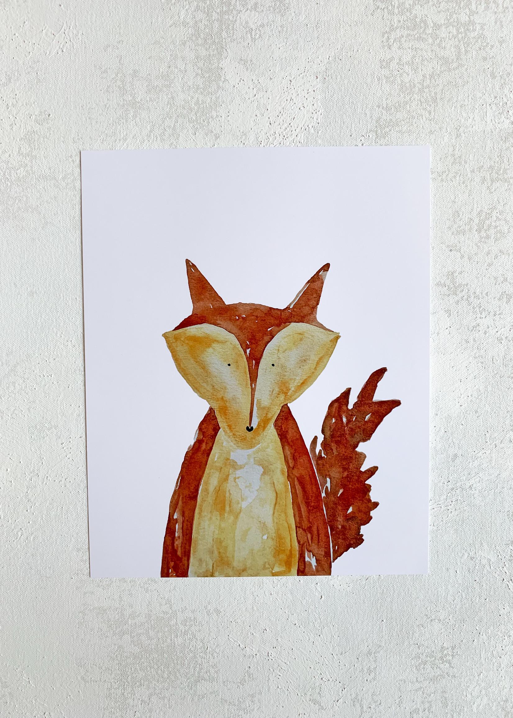 Elitaire Petite Fox Watercolor