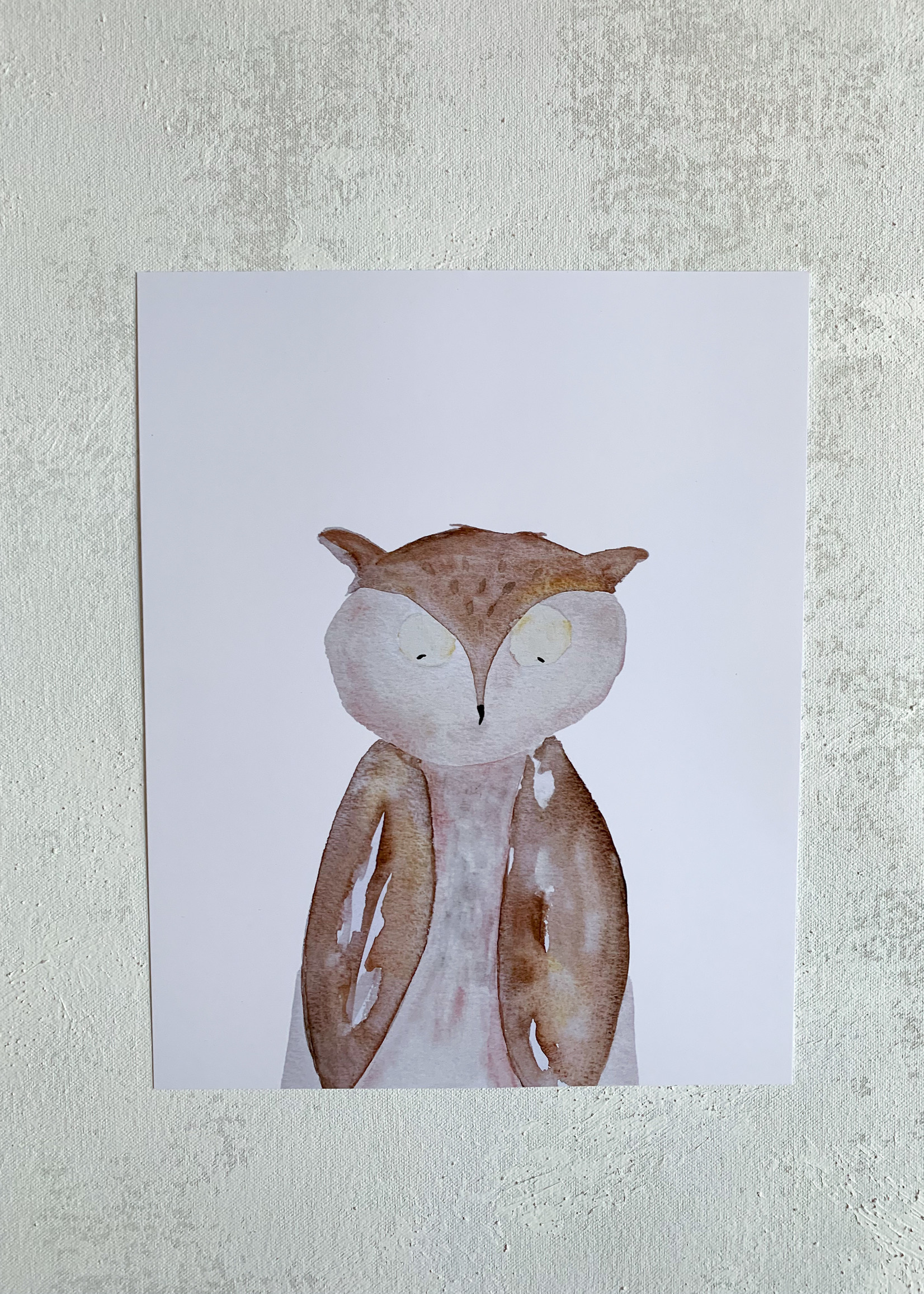 Elitaire Petite Owl Watercolor