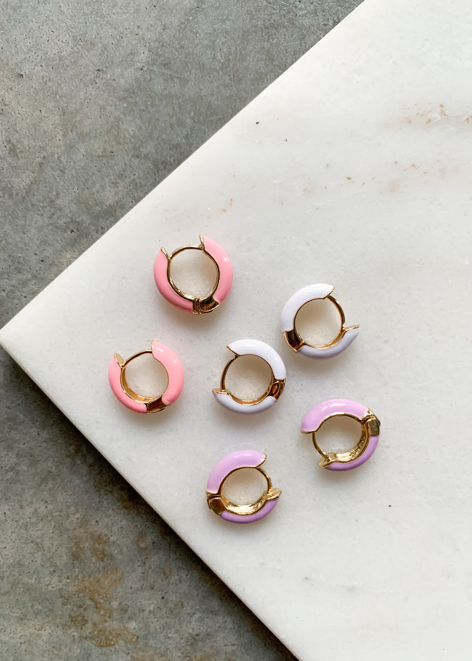 Elitaire Boutique Colored Huggie Hoops