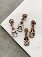 Elitaire Boutique Champagne Beaded Earrings