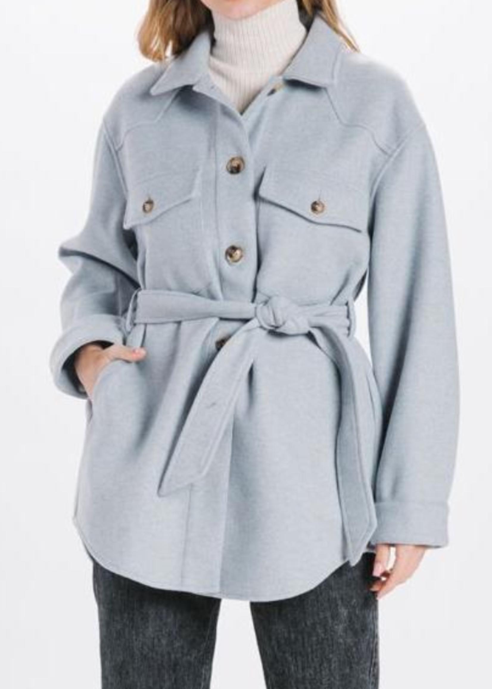 Elitaire Boutique Button Up Jacket in Blue