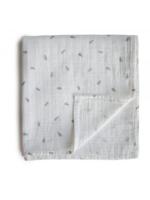Elitaire Petite Muslin Organic Cotton Swaddle Leaves