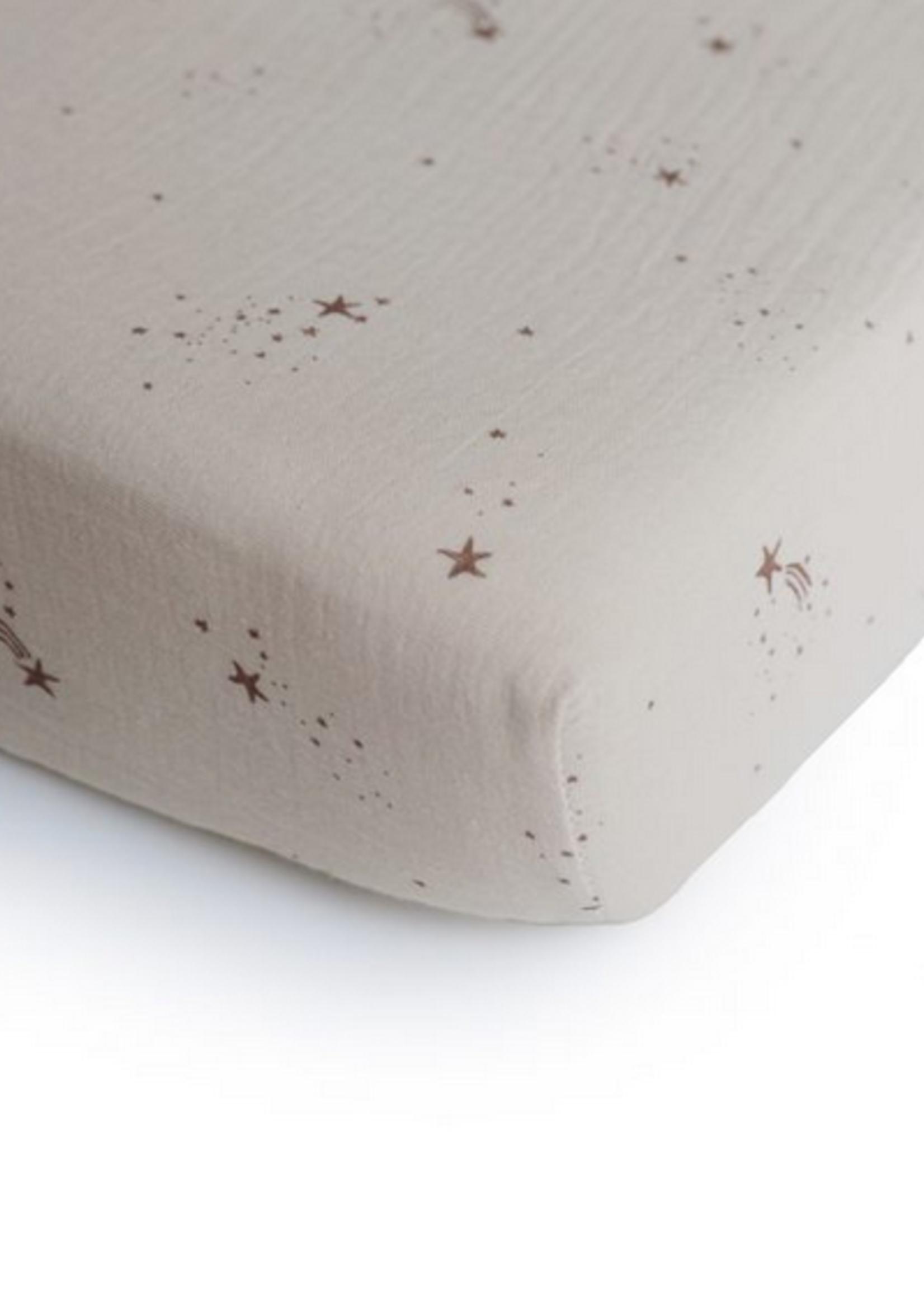 Elitaire Petite Extra Soft Muslin Crib Sheet Falling Stars