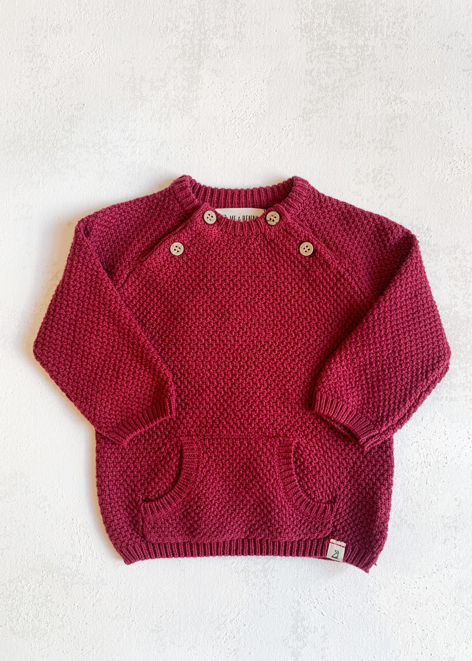 Elitaire Petite The Morrison Sweater in Wine