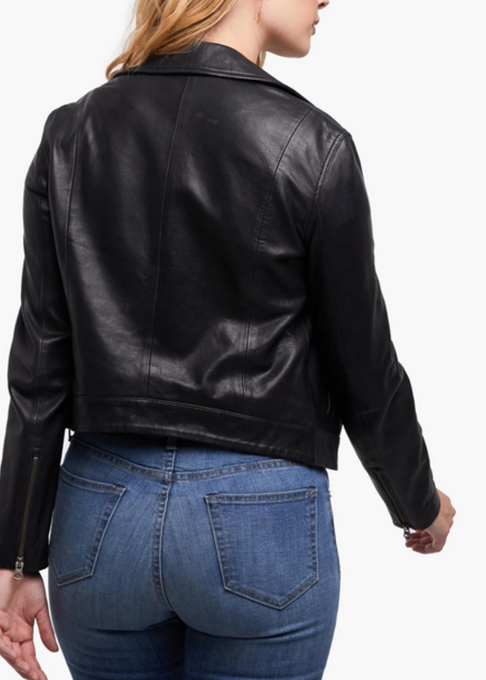 Elitaire Boutique Maha Black Leather Jacket