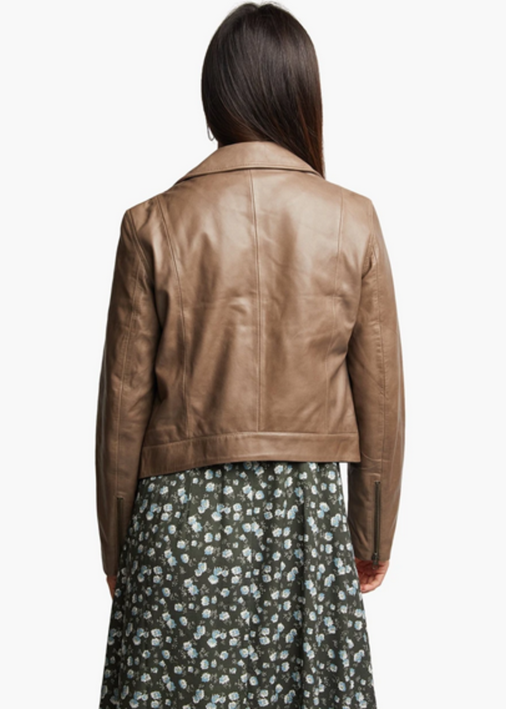 Elitaire Boutique Maha Slate Leather Jacket