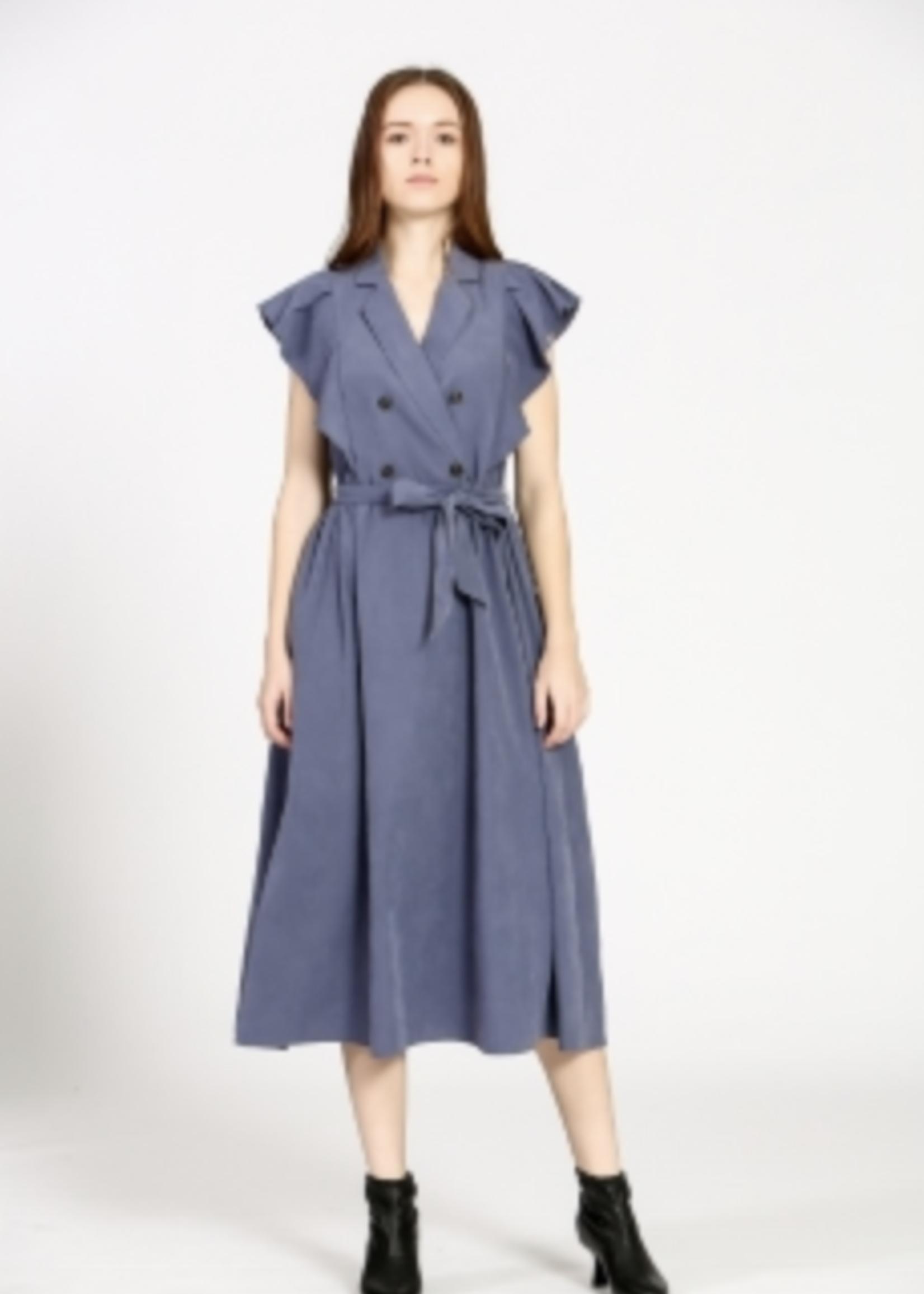 Elitaire Boutique Blue Midi Shirt Dress
