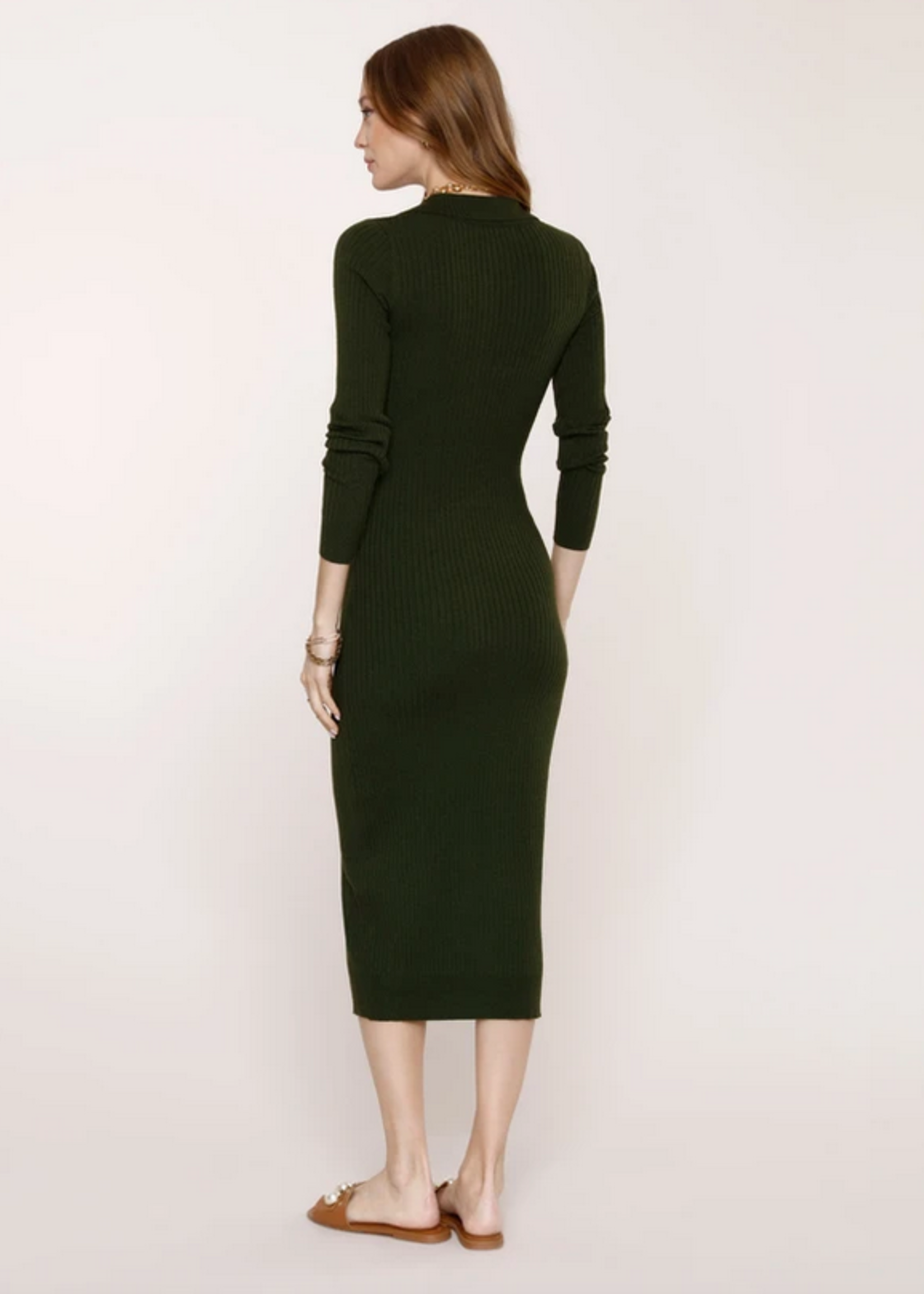 Elitaire Boutique Dahlia Dress in Army