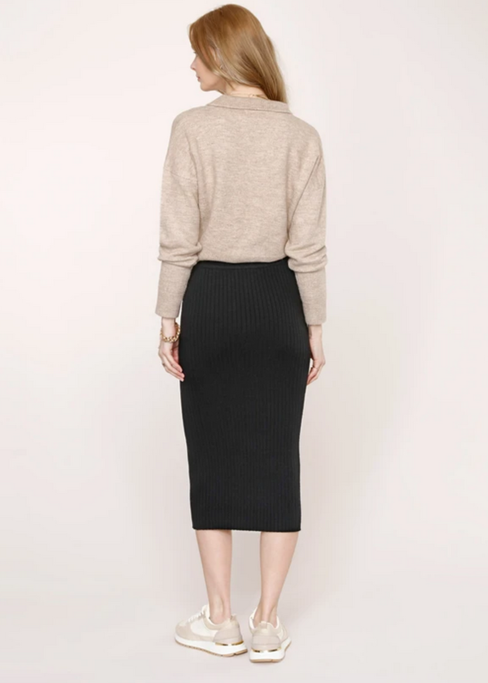 Elitaire Boutique Eve Knit Skirt in Black