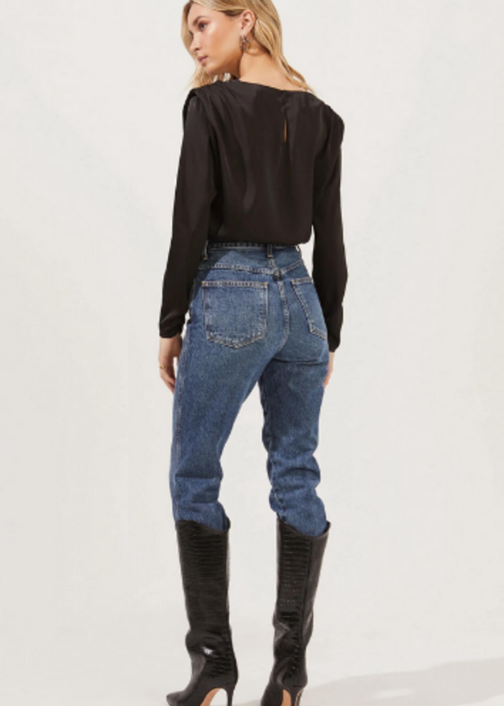 Elitaire Boutique Blakely Bodysuit in Black