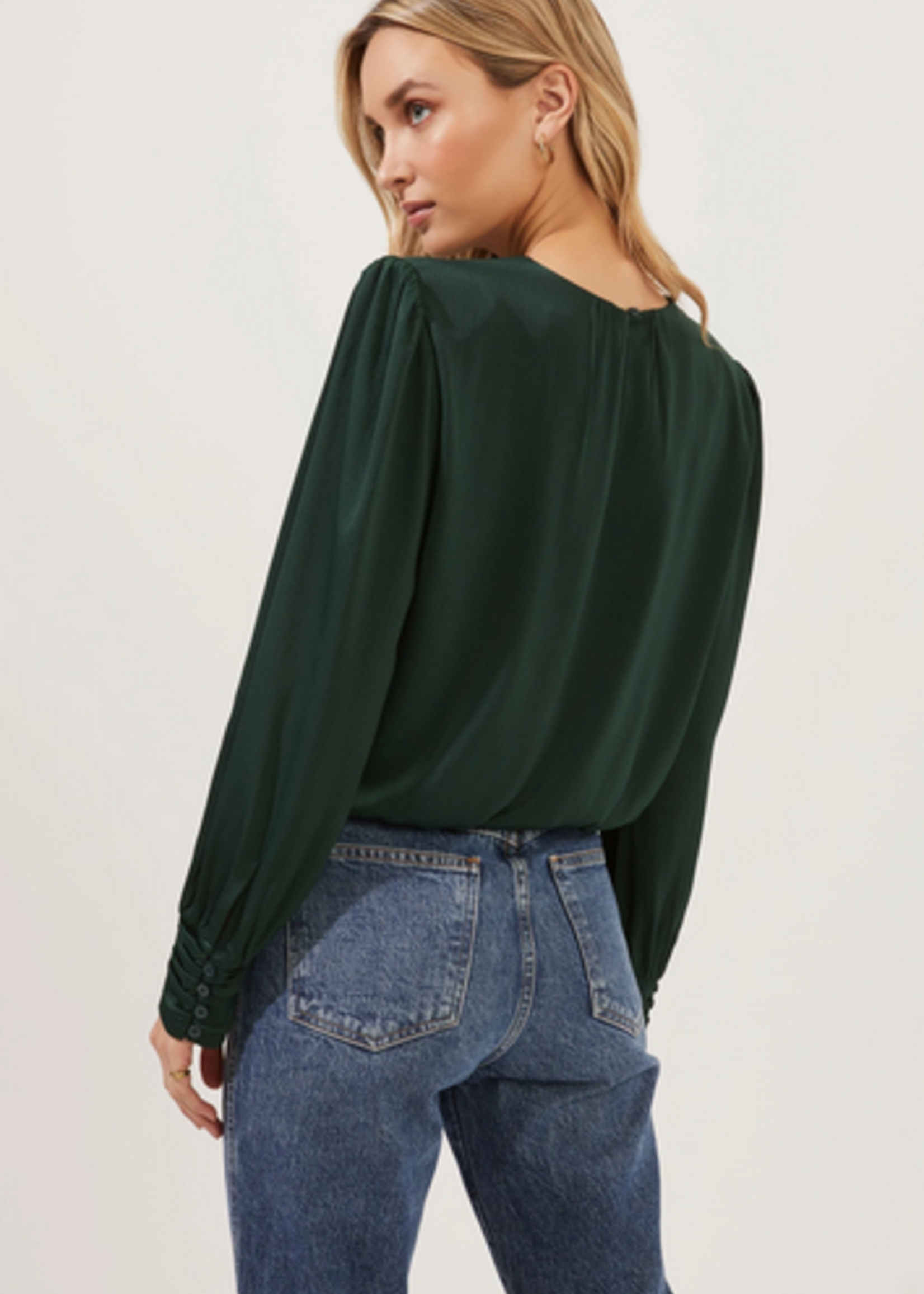 Elitaire Boutique Duchess Top in Green