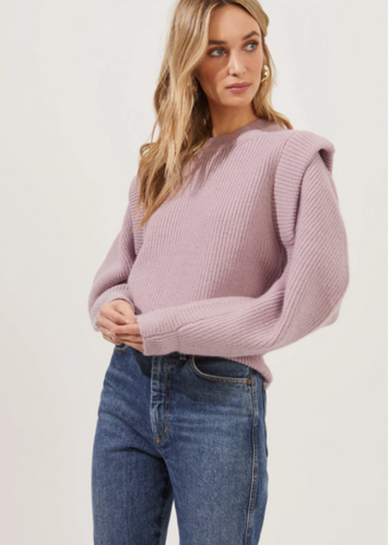 Elitaire Boutique Romina Sweater in Dusty Pink