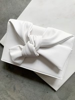 Elitaire Boutique Olivia Bow Clutch in White