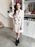 Elitaire Boutique Agatha Coat in Ivory