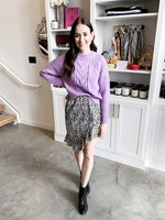 Elitaire Boutique Cable Knit Sweater in Lilac