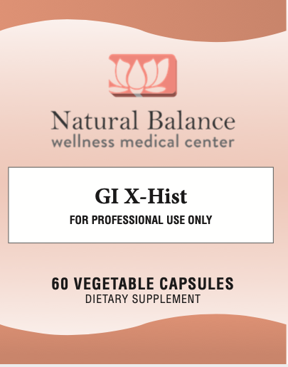 GI Support------ GI X HIST 60CT (NEUROBIOLOGIX) (New vendor, Same instructions as before)