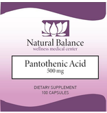HPA PANTOTHENIC ACID 100CT (Douglas) (Same instructions as PUREs Pantothenic Acid) (500 mg)