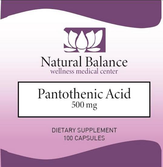 HPA-------------- PANTOTHENIC ACID 100CT (Douglas) (Same instructions as PUREs Pantothenic Acid) (500 mg)