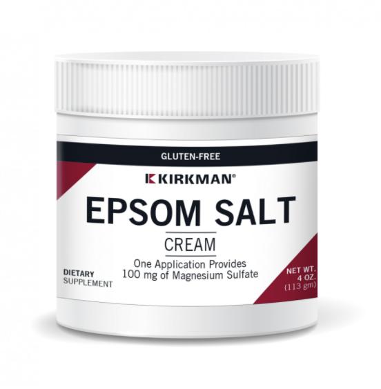 Biomed MAGNESIUM SULFATE CREAM (NEW NAME: EPSOM SALT CREAM) 4oz (KIRKMAN) dosis: 1 gm = 1/4 tsp
