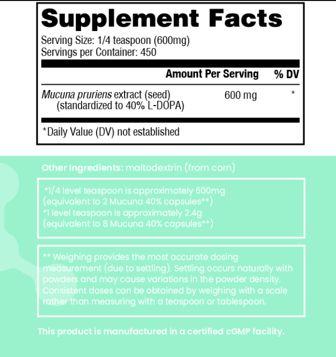 Mood MUCUNA D5 POWDER 270 GRM (CHK NUTRITION)