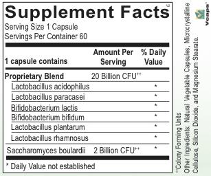 GI Support------ PROBIOTIC BALANCE XR 60CT (GF, DF, SF) (ORTHO MOLECULAR) (2oz)