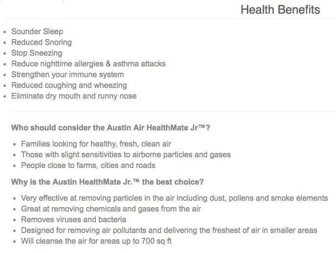 AUSTIN-AIR Austin Air-Healthmate (Junior Unit)