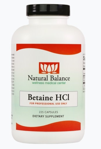 GI BETAINE HCL 225CT (AND PEPSIN)  (ORTHO MOLECULAR)