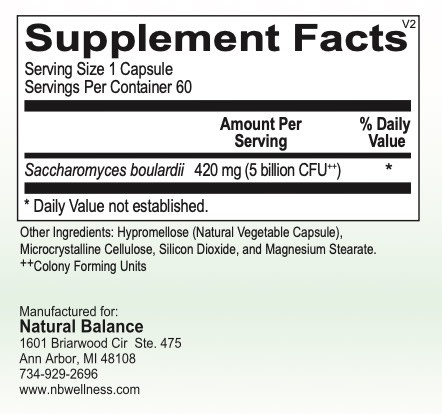 Gastrointestinal Support SACCHAROMYCES BOULARDII 60CT (GF, DF, SF) (ORTHO)
