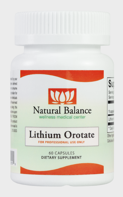 Biomed---------- LITHIUM OROTATE 60CT (ORTHO MOLECULAR) (Same instructions as the Klair product)