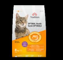 Nourriture sèche au poulet pour chat - Santé optimale