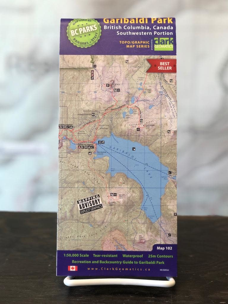 Clark Geomatics Garibaldi Park Map 4th Ed.