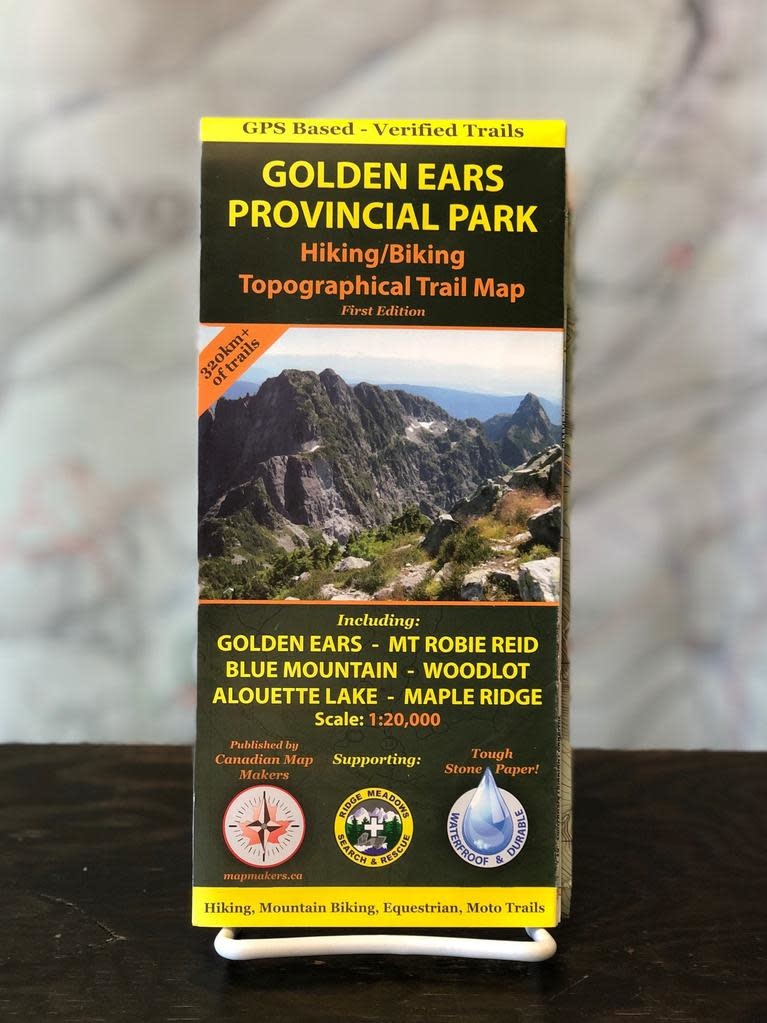 Canadian Map Makers Golden Ears Trail Map