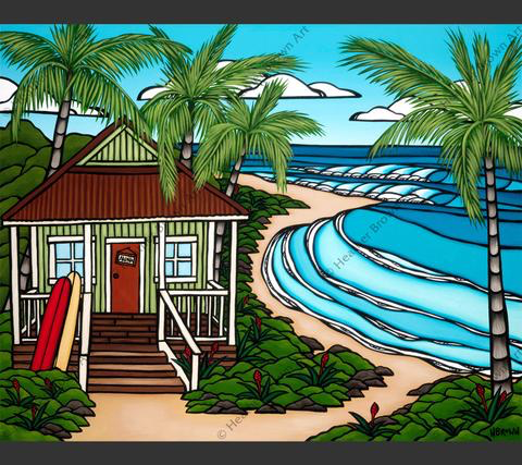 """Heather Brown HAWAII BUNGALOW, 16""""X20"""" GALLERY WRAP GICLEE ON CANVAS, LIMITED EDITION #228/250, SO22432"""