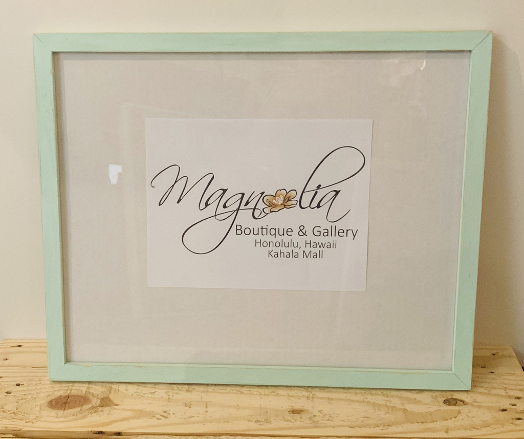 Magnolia Designs 16X20 RUSTIC WOODEN FRAME, DISTRESSED MINT