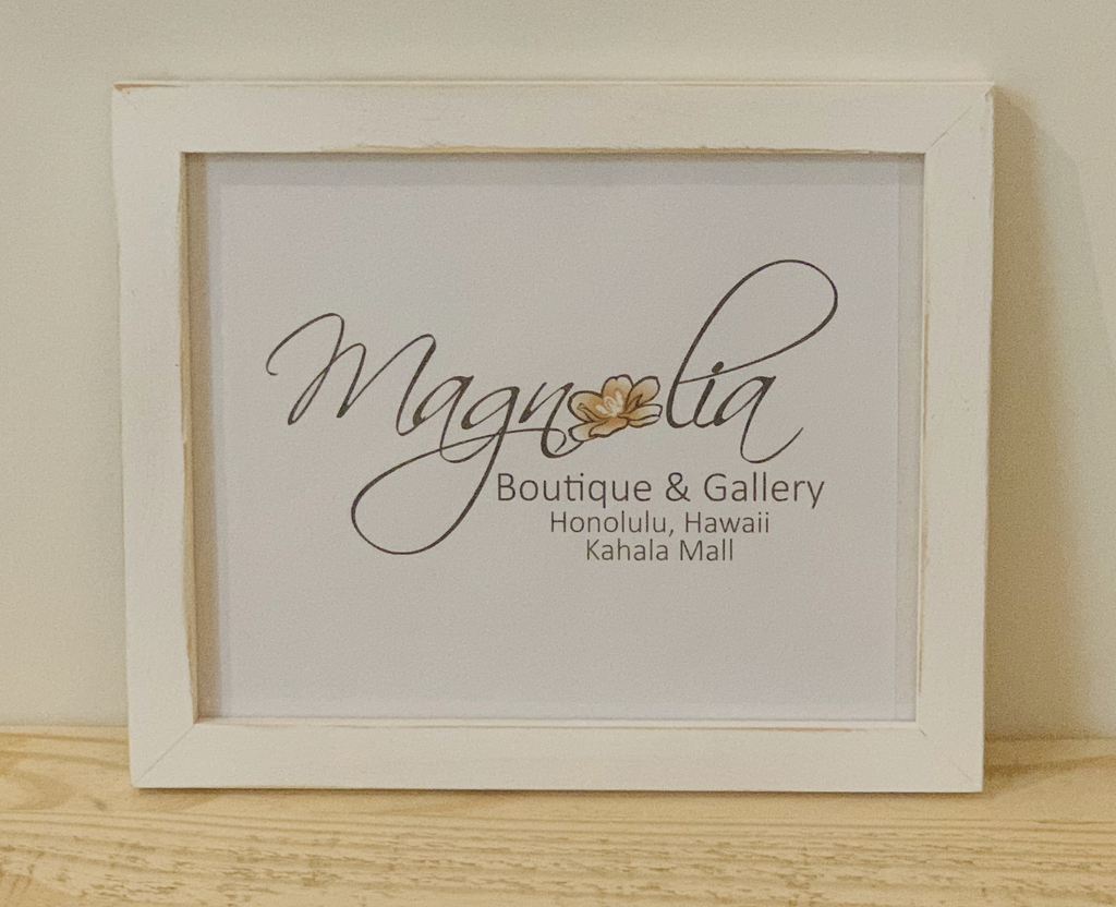Magnolia Designs 8X10 RUSTIC WOODEN FRAME, DISTRESSED WHITE