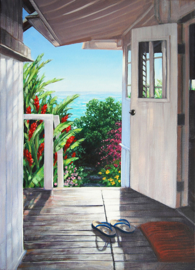 "Carol Collette E Komo Mai, 11""x14"" Gallery Wrap Giclee on Canvas"